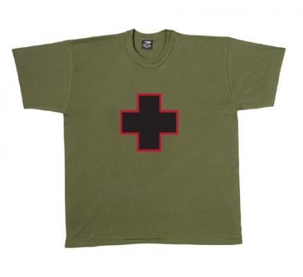 Оливковая футболка с крестом 60170