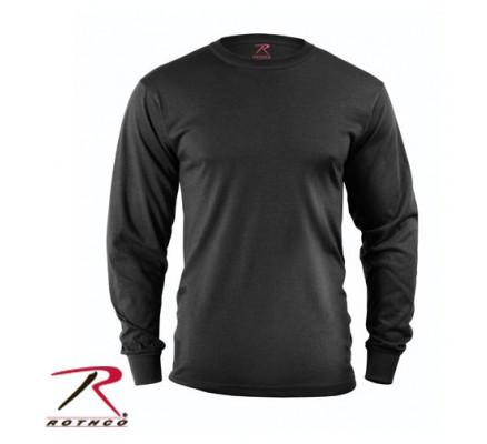 Черная футболка с длинными рукавами 60212