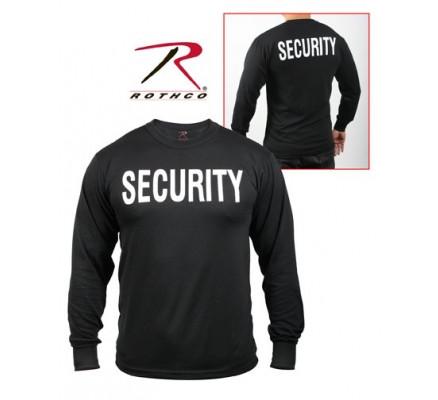 Черная футболка с длинным рукавом SECURITY 60222