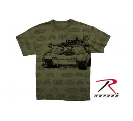 Оливковая футболка TANK 66240