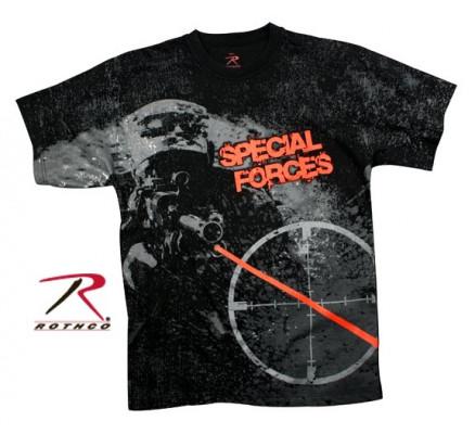 Винтажная черная футболка SPECIAL FORCES 66330