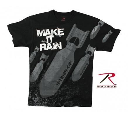Черная футболка MAKE IT RAIN 66380