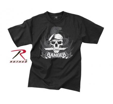 Винтажная черная футболка RANGER 66530