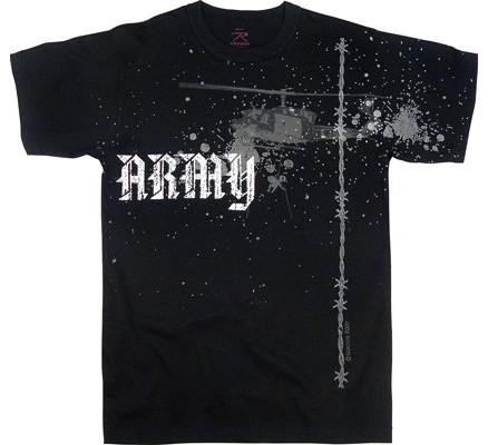 Винтажная черная футболка ARMY 66900