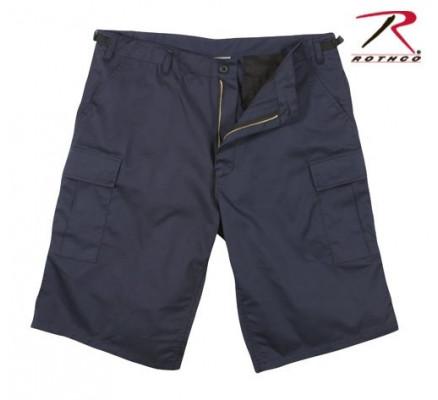 Удлиненные темно-синие шорты BDU 7432