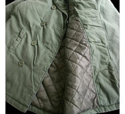 Винтажное оливковое пальто 7677
