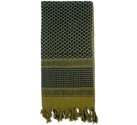 Пустынный шарф Шемаг оливковый 8537