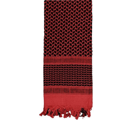 Пустынный шарф Шемаг красный 8537