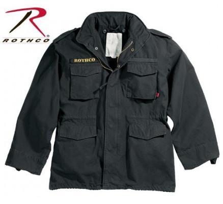 Винтажная курточка М-65 черная 8608