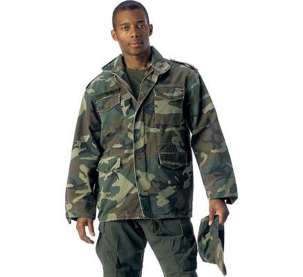 Винтажная курточка М-65 лесной камуфляж 8613