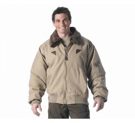 Винтажная куртка B-15A цвета хаки 8630