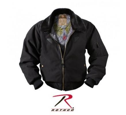 Винтажная черная курточка B-15A 8640