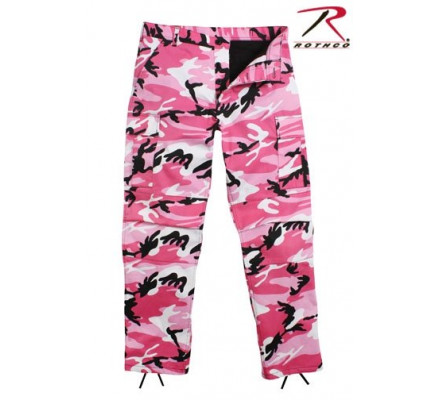 Брюки BDU розовый камуфляж 8670