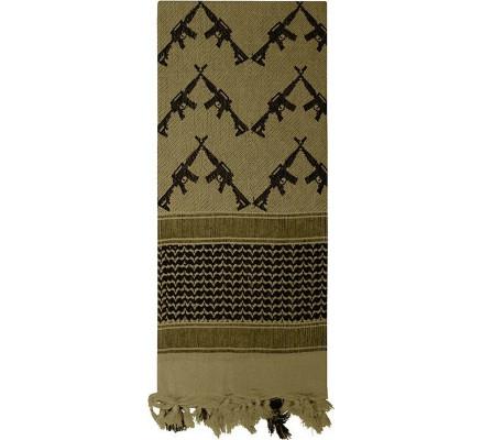 Пустынный шарф шемаг оливковый 8737