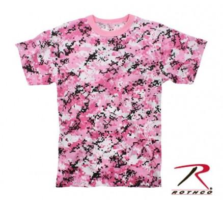Футболка цифровой розовый камуфляж 8957