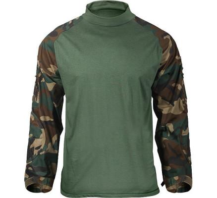 Боевая рубашка лесной камуфляж 90025
