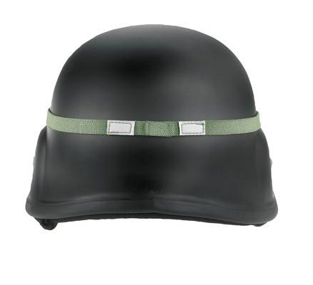 Ремень Кошачьи глазки для шлема зеленый 9357