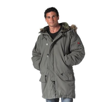 Винтажная куртка парка N-3B оливковая 9467