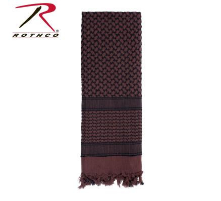 Шарф шемаг коричневый-черный 8537