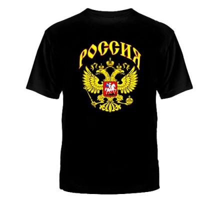 Футболка Россия черная