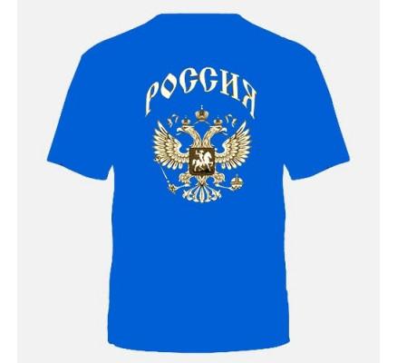 Футболка Россия синяя
