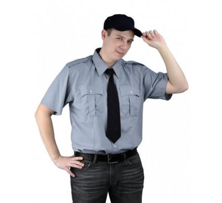 Рубашка Охрана кор. рукав серая