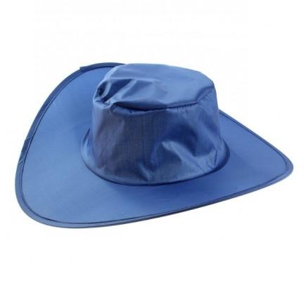Синяя складная шляпа
