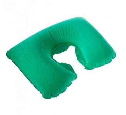 Зеленая дорожная подушка