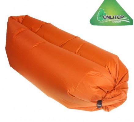 Самонадувающийся шезлонг оранжевый