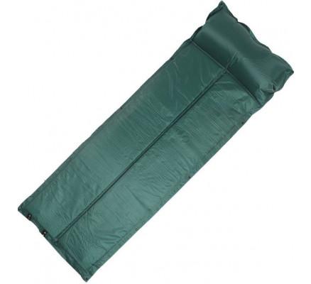 Самонадувающийся туристический коврик зеленый