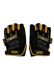 Черно-желтые велосипедные перчатки
