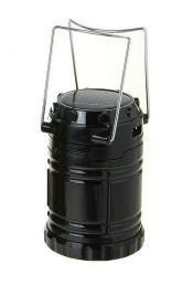 Черный Переносной фонарь Lamp складной