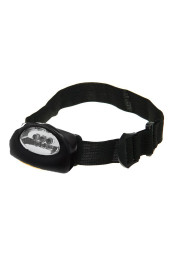 Черный фонарик налобный 3 диода