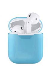 Голубой силиконовый чехол для Apple AirPods