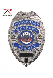 Знак CONCEALED WEAPONS PERMIT