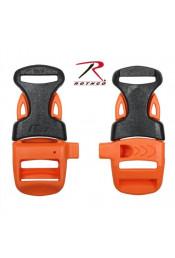 Пряжка фастекс оранжевый-черный 238
