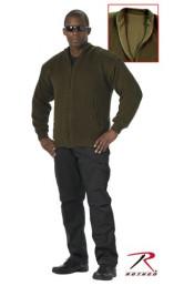 Двухсторонний оливковый свитер 3350