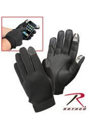 Тонкие черные перчатки 3409