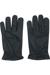 Кожаные черные перчатки 3467
