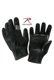 Кожаные черные перчатки 3482