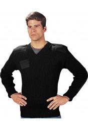 Шерстяной свитер черный 6344