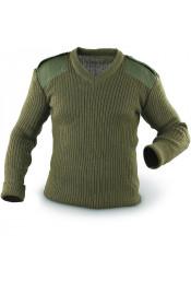 Акриловый оливковый свитер 6345
