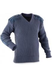 Акриловый синий свитер 6345