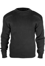 Шерстяной черный свитер COMMANDO 6349