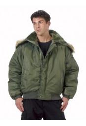 Оливковая летная курточка 7190