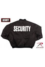 Летная черная куртка SECURITY 7357