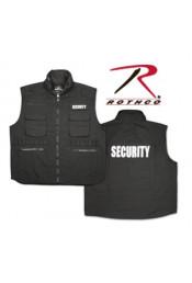 Черный жилет SECURITY 7457