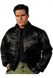 Черная летная куртка 7522