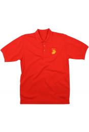 Красная футболка поло MARINES 7783