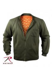 Оливковая флисовая куртка 8549